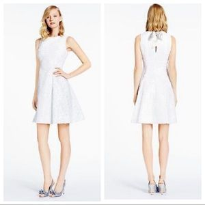 Kate Spade • White Sequin Fit Flare Sleeveless